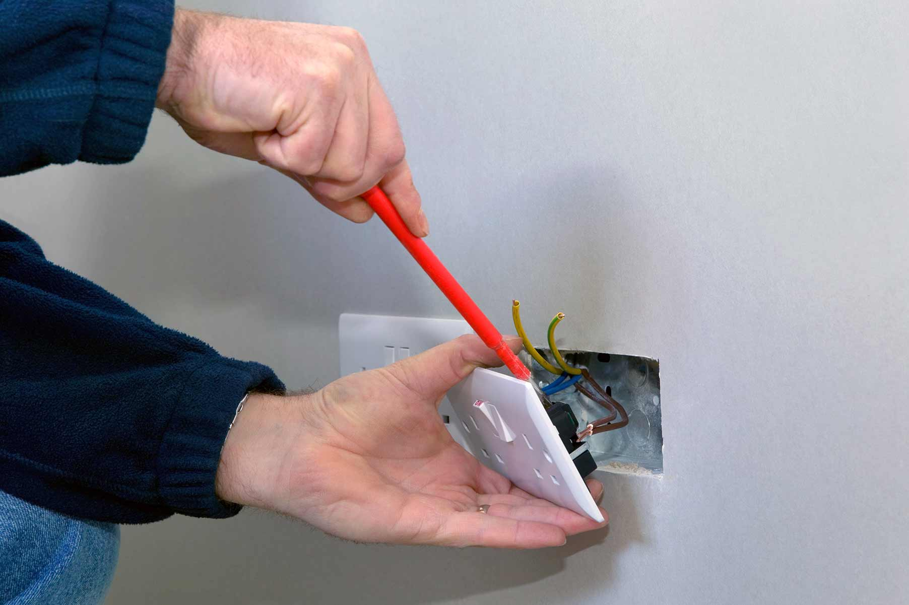 Our electricians can install plug sockets for domestic and commercial proeprties in Carshalton and the local area.